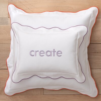 Pique Scalloped Cotton Decorative Pillow