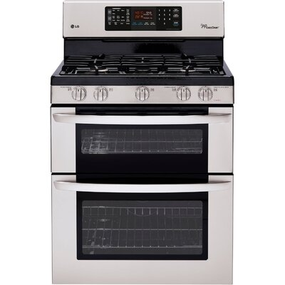 Lg 6 1 cu ft gas free standing range reviews wayfair - Gas stove double oven reviews ...