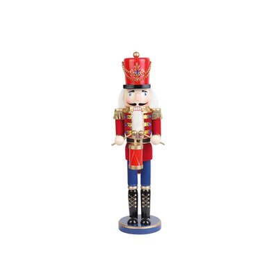 Zest Candle Red  Nutcracker Drummer Soldier