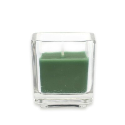 Zest Candle Square Glass Votive Candles (12 Pieces/Box )