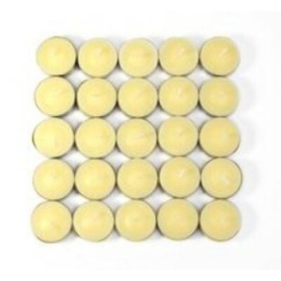 Zest Candle Vanilla Scented Tealight Candles (Set of 50)