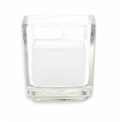 Zest Candle Citronella Square Glass Votive Candles (Set of 12)