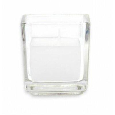 Zest Candle Citronella Square Glass Votive Candles