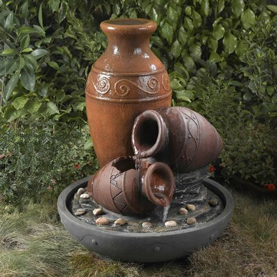 Water Fountain Distressed Decor | Wayfair