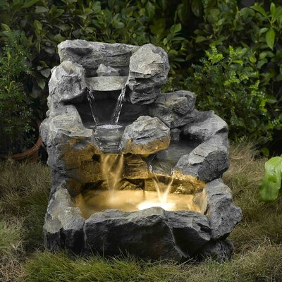 Rock Creek Cascading Outdoor/Indoor Fountain with Illumination