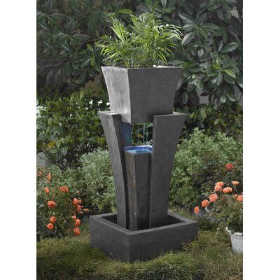 Polyresin and Fiberglass Tiered Raining Fountain