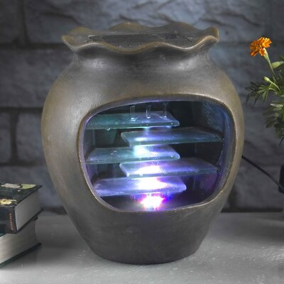 Harmonia Pot Tabletop Fountain With LED Light