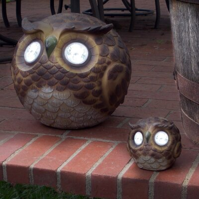 Father and Son Owls Solar Light Set