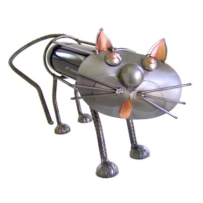 H & K SCULPTURES Cat Wine Caddy