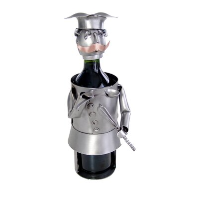 H & K SCULPTURES Chef Wine Caddy