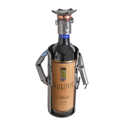 H & K SCULPTURES Policeman Wine Caddy