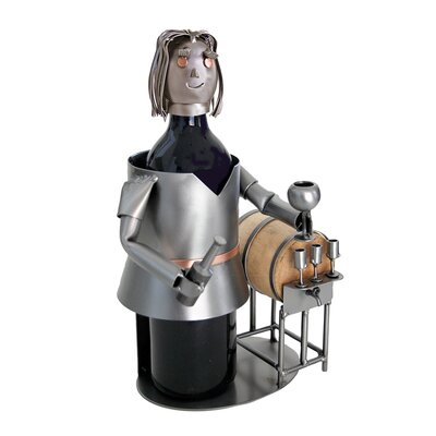 H & K SCULPTURES Wine Taster Female Wine Caddy