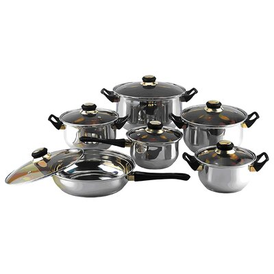 Gourmet Chef Aluminum 12-Piece Cookware Set