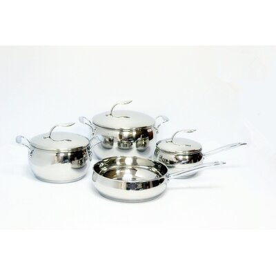 Gourmet Chef Stainless Steel 7 Piece Cookware Set
