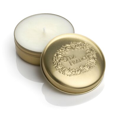 Classic Toile Plum Chypre Travel Candle