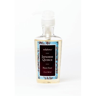 Seda France Classic Toile Japanese Quince Liquid Hand Soap
