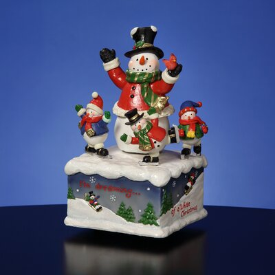 San Francisco Music Box Snowman Family Figurine