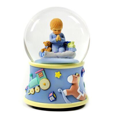 San Francisco Music Box Bedtime Prayers Boy Rotating Water Globe