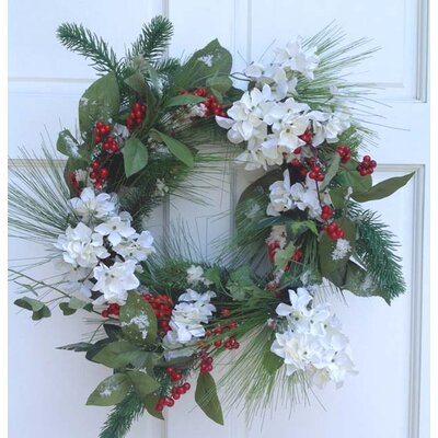 Mills Floral Hydrangea and Berry Wreath