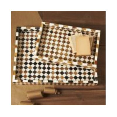 Tozai Zanzibar Diamond Mosaic Trays (Set of 2)