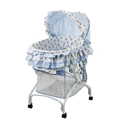 2 in 1 Bassinet to Cradle in Light Blue