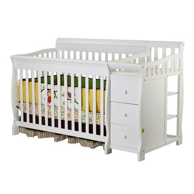 Dream On Me Brody 4-in-1 Convertible Crib and Changer