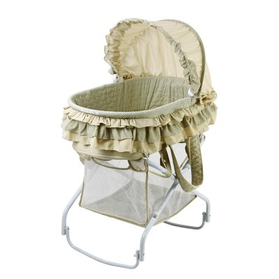 Dream On Me 2 in 1 Bassinet to Cradle in Green