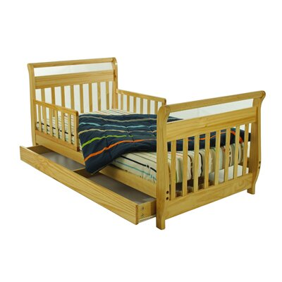 Sleigh Toddler Bed with Storage Drawer