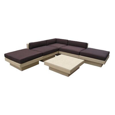 Modway Laguna 6 Piece Sectional Deep Seating Group with Cushions