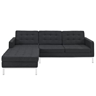 Modway Loft Wool Left Arm Sectional Sofa