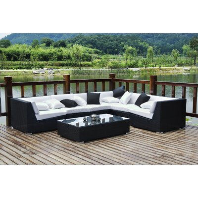 Modway Lambid 7 Piece Deep Seating Group with Cushion