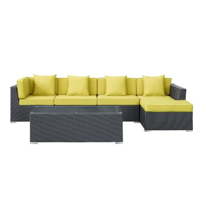 Modway Signal 5 Piece Deep Seating Group with Cushion