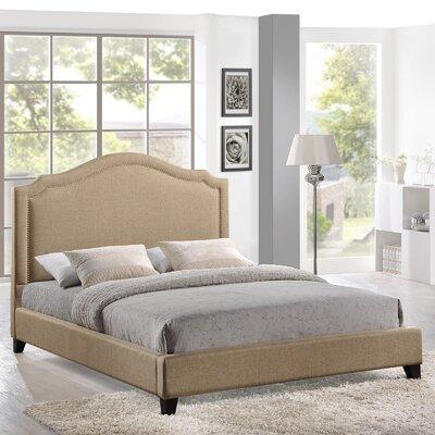 Wooden queen platform bed with headboard solid slats rails bedroom set bed mattress sale - Extra tall bed frame queen ...