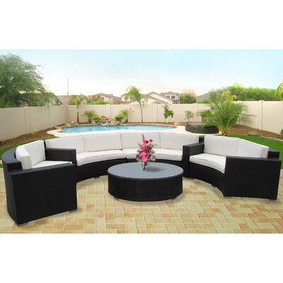 Modway Portico 5 Piece Outdoor Patio Sectional Set