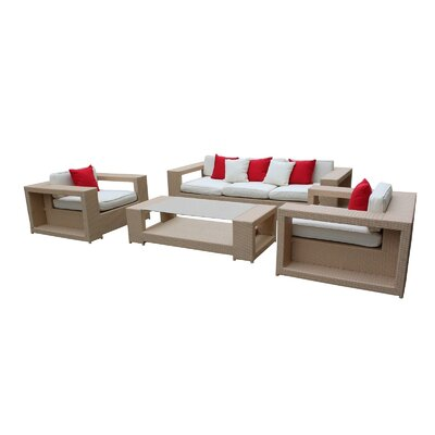 Modway Aspire 4 Piece Deep Seating Group with Cushions