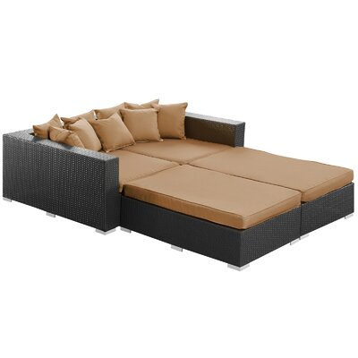 Modway Palisades Outdoor 4 Piece Daybed Set with Cushions