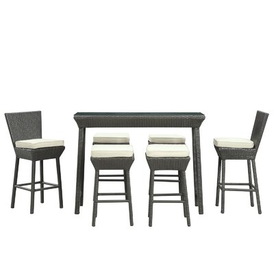 Modway Napa Outdoor 7 Piece Bar Set with Cushions
