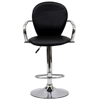 "Modway Captain 17"" Adjustable Bar Stool with Cushion"
