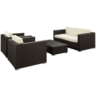 Modway Concert 4 Piece Deep Seating Group with Cushions