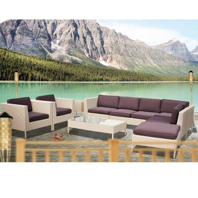 Modway La Jolla 9 Piece Sectional Deep Seating Group with Cushions