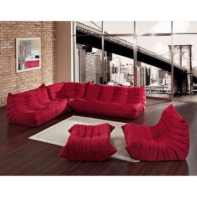 Modway Waverunner 5 Piece Sectional