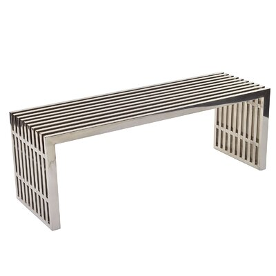 Modway Gridiron Stainless Steel Bench Reviews Wayfair