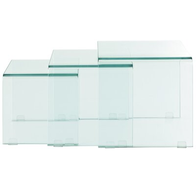 Modway Cascade Nesting Coffee Table 3 Piece Set