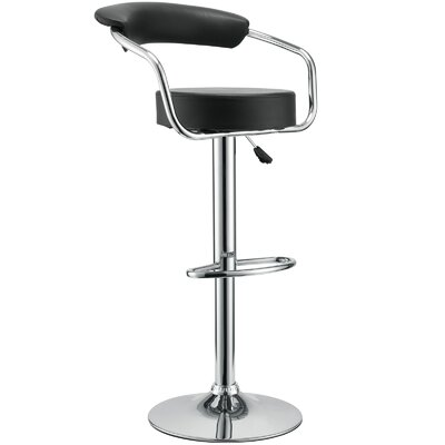 "Modway Diner 24.5"" Adjustable Swivel Bar Stool with Cushion"