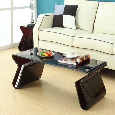 Modway Magazine Coffee Table Set