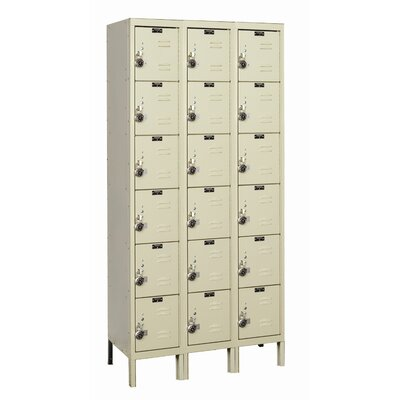 Hallowell ReadyBuilt Three Wide Six Tier Locker  (Assembled)