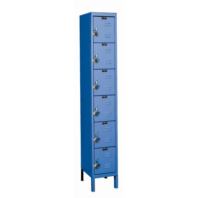 Hallowell ReadyBuilt Locker 6 Tier 1 Wide (Assembled)