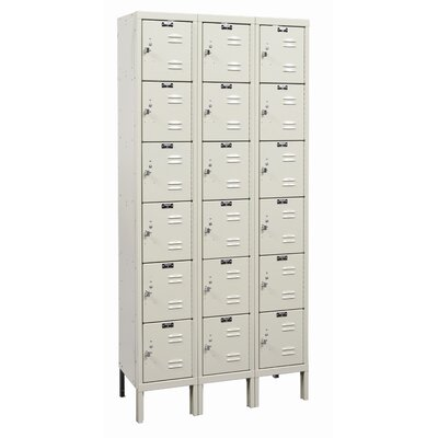 Hallowell Galvanite Locker 6 Tier 3 Wide (Assembled) (Quick Ship)