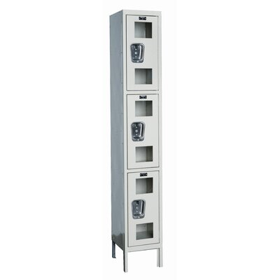 Hallowell Safety-View Stock Lockers - Triple Tier - 1 Section (Assembled)