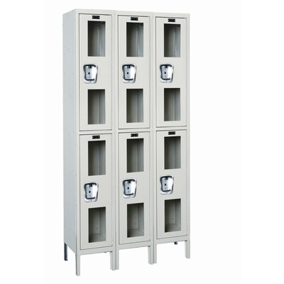 Hallowell Safety-View Stock Lockers - Double Tier - 3 Sections (Assembled)